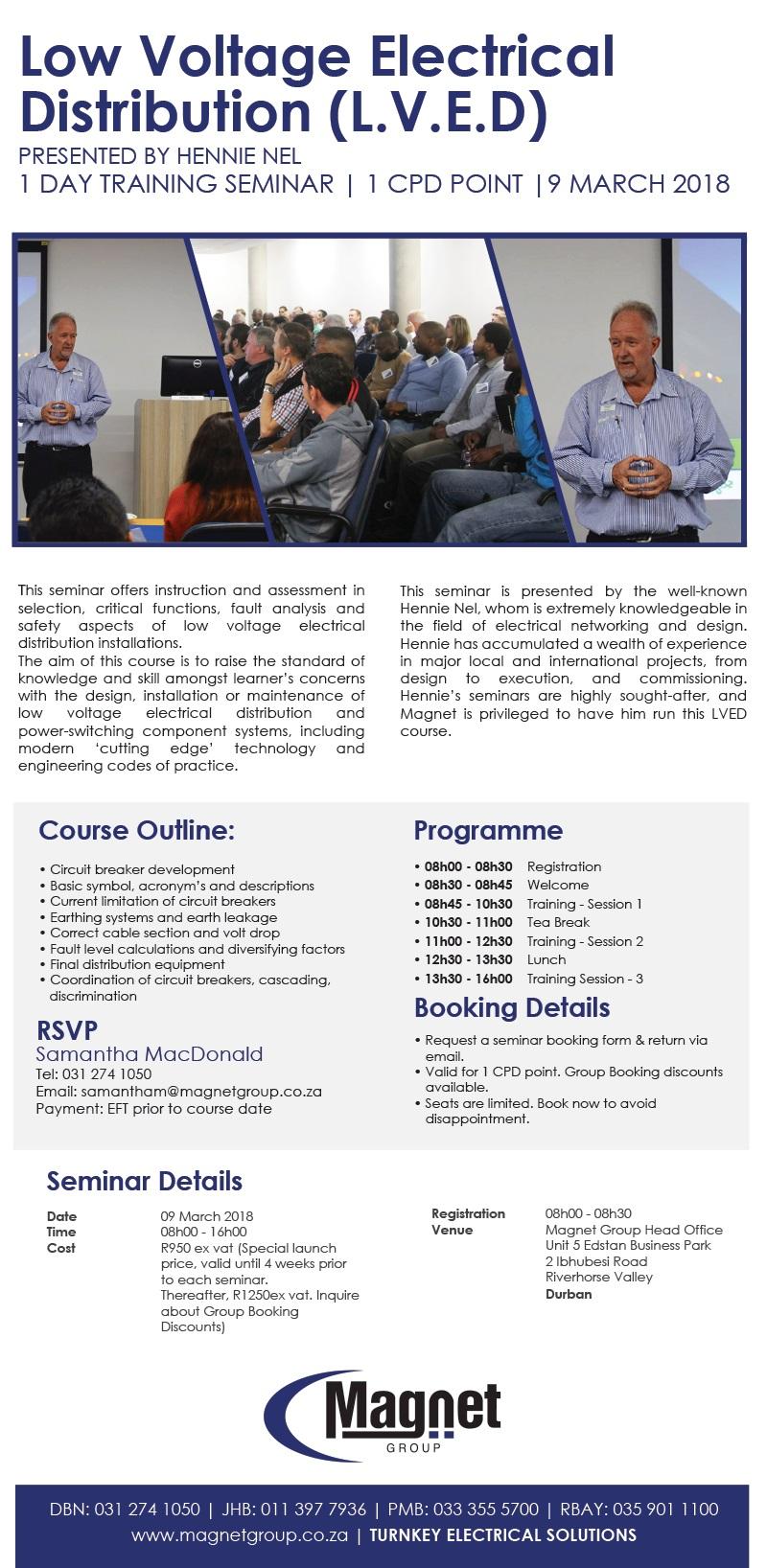 LVED Seminar 09 March 2018