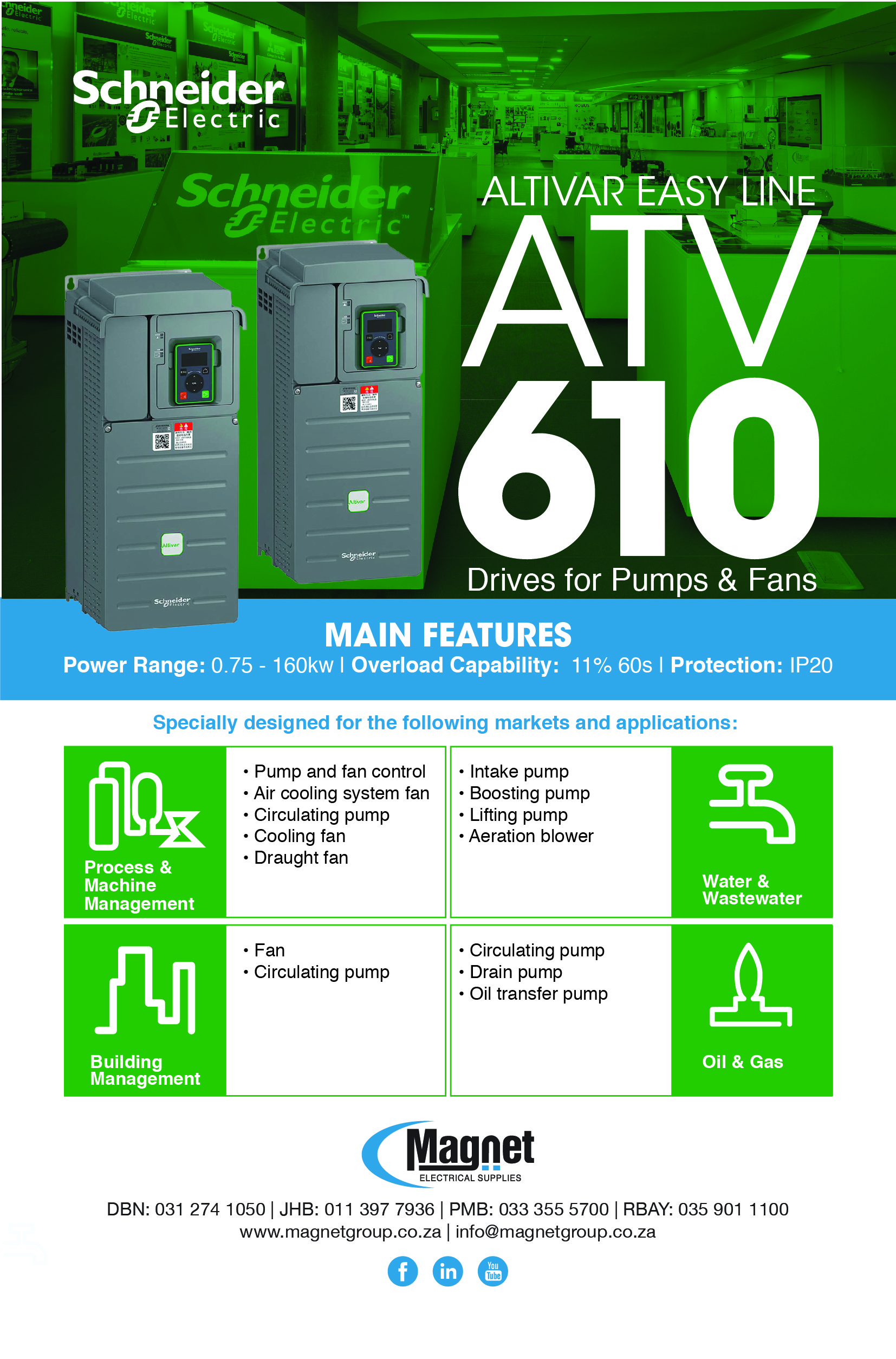 Schneider Electric ALTIVAR Easy Line Range